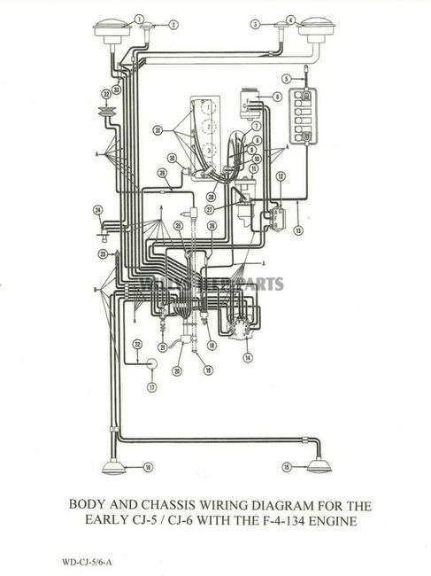 WD CJ 5 6 A_001 jeep wiring diagrams original reproductions llc yuma, arizona willys cj5 wiring diagram at bakdesigns.co